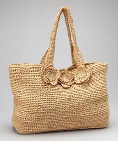 Take a look at this Natural Rosette Crochet Large Montauk Tote by florabella on #zulily today!