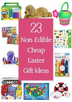 Looking for cheap Easter gift ideas that won't leave your child in a sugar induced craze? Here are 23 non-edible cheap Easter gift ideas.
