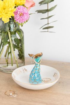 Mermaid For Each Other Ring Holder- gift-cllifestyle
