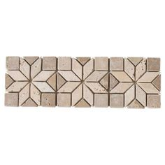 Artisan Travertine Border - 4in. x 12in. | Floor and Decor