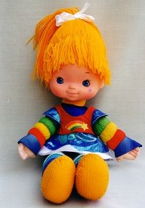 Rainbow Brite! my favorie doll growing up i found one at a yardsale a few years ago and had to get it......