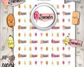 Ice Cream Stickers, Popsicle Stickers, Sugar Stickers, Reminders, Flags, Remember, Printable Planner Stickers, Planner Stickers