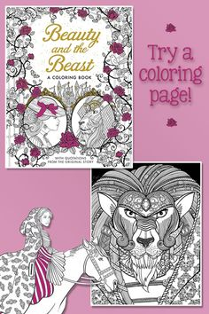 Beauty And The Beast A Coloring Book Printable Page