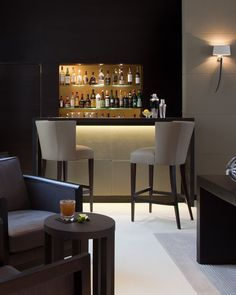 50 Stunning Home Bar Designs Bars In Basement Design And Waterfall Countertop