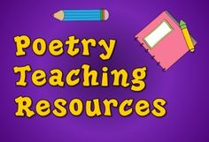 Poetry Teaching Resources on Pinterest