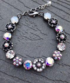 87fe9a3a2439 Crystal Flowers Bracelet--Swarovski Crystal -White Opal