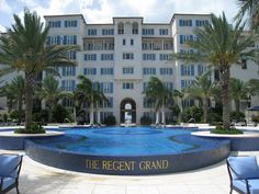 The pool at the Regent Grand. A beautiful 5 star Turks and Caicos Resort