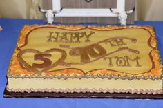 cattle brand cake for 90th birthday
