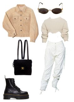 """Untitled #1010"" by daniellexoxo196 ❤ liked on Polyvore featuring Dr. Martens, Yves Saint Laurent and Chanel"