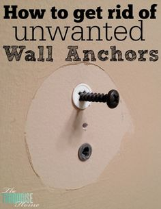 Quick Tip How to Get Rid of Unwanted Dry Wall Anchors is part of diy-home-decor - Come find out how to remove dry wall anchors easily, without tearing up the drywall It is so much easier than you think! Do It Yourself Furniture, Do It Yourself Home, Lifehacks, Trick 17, Diy Spring, Home Fix, Diy Home Repair, Home Repairs, Bricolage