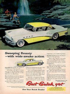 1956 Buick Motors Automobile Original Car and Truck Print Ad