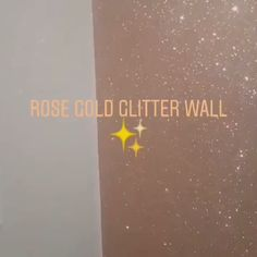 Our rose gold glitter wallcovering. Order samples on our website (linked) diy videos teenage Rose Gold Glitter Wall
