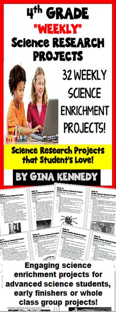 No-Prep! Thirty-two science weekly enrichment projects in which students research engaging topics and then answer the follow-up questions. The questions, not only provide an authentic way for students to broaden their depth of science knowledge in a natural way, but they reinforce basic science grade level standards.