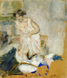 Study of a Woman in a Petticoat, Edouard Vuillard