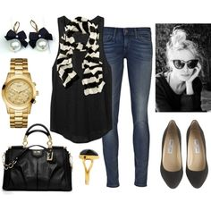 """""""Black & Gold"""" by qtpiekelso on Polyvore"""