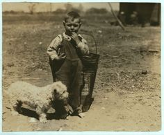 Small Boy outdoors with Dog Unknown- c.1930s -Oklahoma City, Oklahoma- (Farm, Farmers Son)- Reproduction Antique/Vintage Photo Print by GalleryLF on Etsy