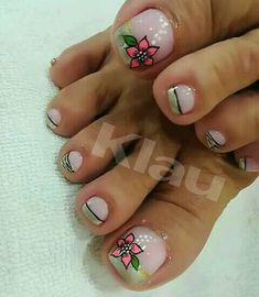 Pretty Toe Nails, Cute Toe Nails, Cute Toes, Pretty Toes, Pedicure Nail Art, Toe Nail Art, Summer Toe Designs, Hair And Nails, My Nails