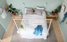 Serene blue IKEA bedroom