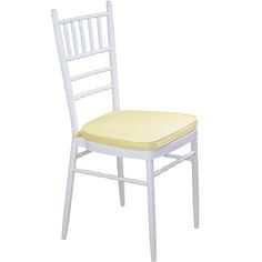 White Tiffany Chair with Yellow Cushion