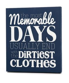 Look what I found on #zulily! Navy & White 'Memorable Days' Wall Art by Twelve Timbers #zulilyfinds
