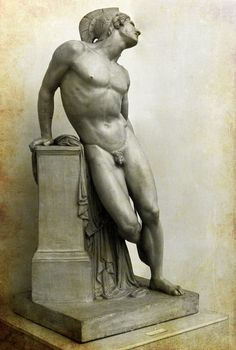 ❤ - Wounded AchillesJean-Baptiste CarpeauxFrance, 1850~ In Greek mythology, Achilles (Ancient Greek: Ἀχιλλεύς, Akhilleus, pronounced [akʰillěws]) was a Greek hero of the Trojan War, the central character and the greatest warrior of Homer's Iliad.     Later legends state that Achilles was invulnerable in all of his body except for his heel. As he died because of a small wound on his heel, the term Achilles' heel has come to mean one's point of weakness.