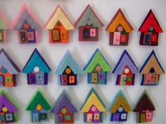 Tiny Village House nO 1 Felted Magnets by Olemae on Etsy, $4.50