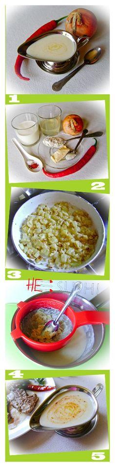 молочный соус с луком к мясу рецепт и фото
