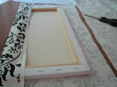 Make your own canvas wall hangings! Love it...