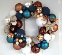 Brown and blue loveliness...maybe include red instead of the gold or white?
