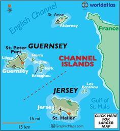 St. Peter Port, Guernsey - Channel Islands Map