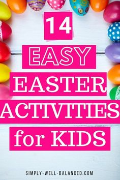 Fun and easy Easter activities for kids. Simple ideas for Easter crafts, snacks and games that kids will love. Perfect for toddlers and young kids. activities for kids Simple Easter Activities for Kids Easter Activities For Kids, Easter Crafts For Kids, Toddler Crafts, Fun Crafts, Kids Fun, Family Activities, Crafts Toddlers, Simple Crafts, Easter Decor