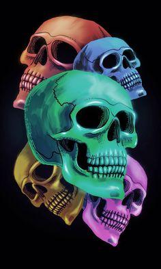 Shiny Five Dead Skulls wallpaper by My Name is Bone - c658 - Free on ZEDGE™