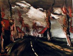 Maurice de Vlaminck, The Mortagne Road (1953)