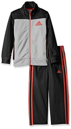 9e83e56a7e adidas Baby Boys Tricot Zip Up Jacket and Pant Set Onix 24 Months -- Read