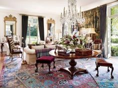 Traditional Living Room by Ralph Lauren via @Architectural Digest #designfile