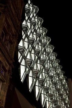 Oxford Street facade by Future Systems - Dezeen Facade Architecture, Beautiful Architecture, Amanda Levete, Future Systems, Glass Facades, Roof Light, Building Facade, Oxford Street, Built Environment