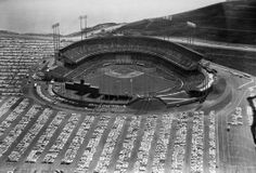 Opening day at Candlestick Park is seen in this aerial view on April 12, 1960 in San Francisco.