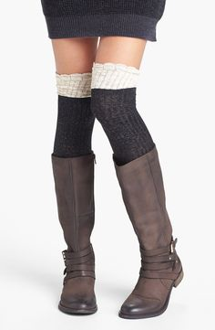 So copying this over the knee socks and boot look.