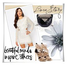 """Favorite dress"" by miyala ❤ liked on Polyvore featuring Missguided, Butter London and Giuseppe Zanotti"