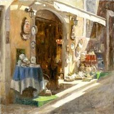 Treasures of Valbonne - Limited Edition Giclée on Canvas - 36 x 36