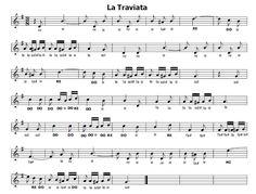 Musica e spartiti gratis per flauto dolce: La Traviata - Libiam ne'lieti calici-Scena del Bri...