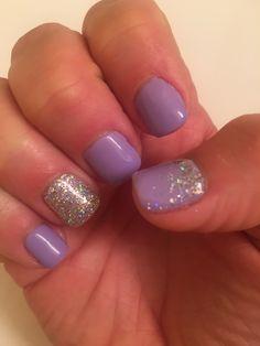 Lavender purple lilac nails mani shellac gel