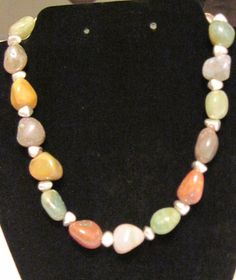 Pretty, multi stone necklace. To purchase or for more info double click on pic.