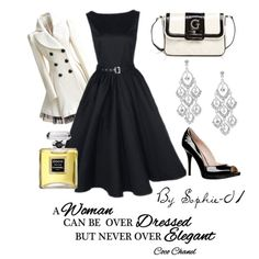 Elegant Coco Chanel retro outfit with
