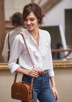 42 Fancy Work Outfits Ideas With White Blouse To Copy – Trendy Fashion Ideas Chic Outfits, Spring Outfits, Fashion Outfits, Fashion Trends, Work Outfits, Fashion Ideas, Style Parisienne, Style Casual, Street Style
