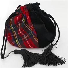 Velvet and Wool Tartan Evening Bag Tartan Fashion, Velvet Fashion, Scottish Plaid, Scottish Tartans, Clutch Bag Pattern, Tweed, Scottish Fashion, Small Crossbody Purse, Warm Outfits