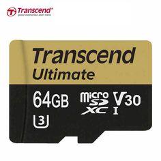 Transcend V30 Micro SD Card 16GB 32GB 64GB 128GB Class10 UHS-I U3 MicroSDHC MicroSDXC Card Class 10 UHS-3 TF Memory Card