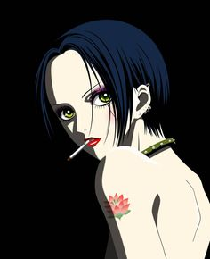 Nana Anime, Nana Manga, Nana Tattoo, Yazawa Ai, Nana Osaki, One Piece Drawing, Pretty Drawings, Smoke Art, Anime Tattoos