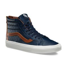 d9cc7f7f3d7bab Leather Perf SK8-Hi Reissue Zip Skate Shoes