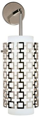 Jonathan Adler Parker Nickel with Glass 7-Inch-W Sconce - #EUH0685 - Euro Style Lighting